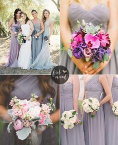 Lilac+Gray+Wedding+Theme+{+Pantone+Spring+2016+}+-+gray+bridesmaids+dresses+#bridesmaids