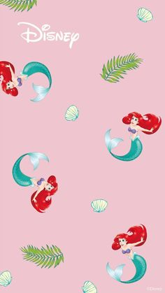 Penney's has just launched Disney wallpaper and we're ready for a home makeover Mermaid Wallpaper Iphone, Ariel Wallpaper, Little Mermaid Wallpaper, Mermaid Wallpapers, Disney Phone Wallpaper, Wallpaper Iphone Cute, Disney Princess Art, Disney Art, Iphone Background Disney