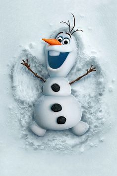 I'm kind of late to start but: DAY 1: Olaf the snowman, my favorite character.