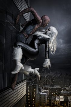 Spiderman and Black Cat by Spider Trooper and Tabitha Lyons, photo by Infinities Edge Studios.
