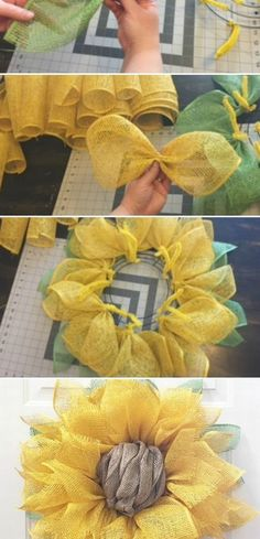 Wreath Tutorial Julie Oxendine shares how to make a Sunflower Wreath - the perfect look for spring!Julie Oxendine shares how to make a Sunflower Wreath - the perfect look for spring! Diy Projects To Try, Crafts To Do, Home Crafts, Diy Crafts, Spring Projects, Burlap Crafts, Burlap Projects, Summer Crafts, Fall Crafts
