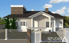 Residencial FS   Studio A #projeto #portão #pilar #revestimento