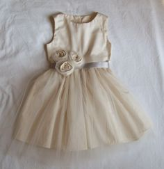 Grace .. Flower Girl Dress ... natural  USA Organic cotton ...6-7-8, by OliveandFern, via Etsy, $109