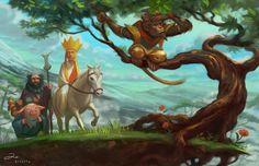 Journey to the West by ArtofTu on DeviantArt Happy Early Birthday, Journey To The West, Year Of The Monkey, War Comics, West Art, Monkey King, Girl Sketch, Deities, Amazing Art