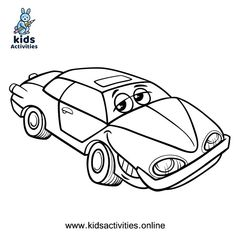 Free Printable cute car coloring pages for kids ⋆ Kids Activities