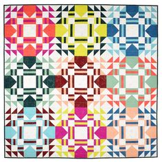 Everglow Quilt   A Pattern - Patchwork and Poodles Quilt Patterns Free, Fabric Patterns, Fat Quarter Projects, Fat Quarter Quilt, Saturated Color, Poodle, Sewing Projects, Quilts, Scrappy Quilts