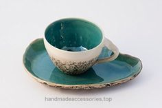 Turquoise Teacup with Saucer, wheel thrown teacup, stoneware cup, handmade mug, Cappuccino Cup, Big coffee cup, Pottery mug, Birthday gift Check It Out Now     $49.00    Beautiful and comfortable cups, handmade with love and care to enjoy and warm your heart with stunning colors and goo ..  http://www.handmadeaccessories.top/2017/03/31/turquoise-teacup-with-saucer-wheel-thrown-teacup-stoneware-cup-handmade-mug-cappuccino-cup-big-coffee-cup-pottery-mug-birthday-gift-2/