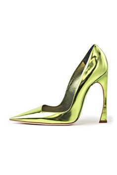 pointed toes metallic heels shoes