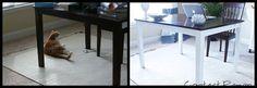 Desk makeover with vinyl, diy, home decor. Get your vinyl from www.vinylwarehouse.co.uk #vinyl #table #home