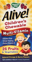 NATURES WAY ALIVEMULTIVITCHEWKIDS 120 CHEW by Natures Way * Continue to the product at the image link. (This is an affiliate link and I receive a commission for the sales)