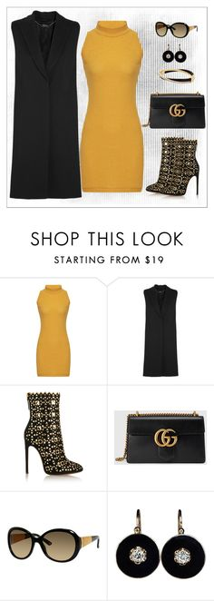 """""""Untitled #1148"""" by gallant81 ❤ liked on Polyvore featuring Alexander McQueen, Alaïa, Gucci and Michael Kors"""