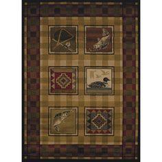 United Weavers Essence Lodge Border Multi Woven Polypropylene Runner Rug, 1'10 inch x 7'2 inch, Multicolor