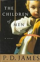 """The children of men.  Author: P D James.  Publisher: New York : A.A. Knopf, 1993.  Summary: """"The year is 2021, and the human race is - quite literally - coming to an end. Since 1995 no babies have been born, because in that year all males unexpectedly became infertile. Great Britain is ruled by a dictator, and the population is inexorably growing older. Theodore Faron, Oxford historian and, incidentally, cousin of the all-powerful Warden of England, watches in growing despair ..."""""""