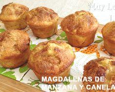 Magdalenas o muffins de manzana y canela