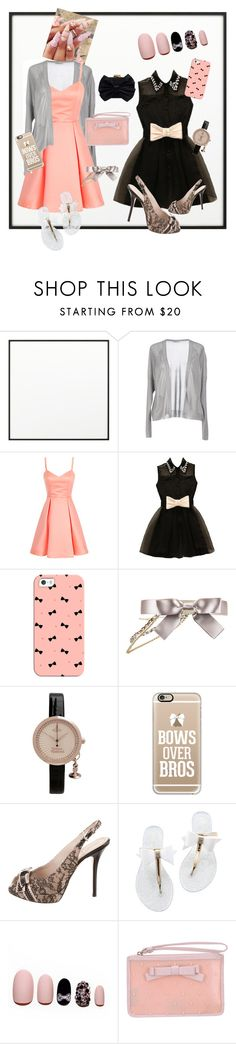 """""""Bows before bros"""" by sarahwuzhere ❤ liked on Polyvore featuring By Lassen, Sibel Saral, Casetify, Chanel, Vivienne Westwood, Christian Dior, Static Nails, RED Valentino and Franchi"""
