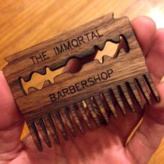 Beard custom wooden comb by The Immortal Barber Shop