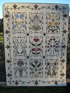 """A William Morris Garden. From the book """"More William Morris in Applique"""" by Michele Hill. Michele and Morris, what a team!"""
