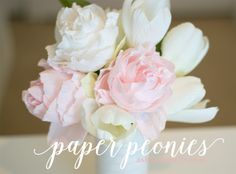 Learn how to create paper peonies with crepe paper. Learn how to create paper peonies with crepe paper. You'll need: Floral wire Florist tape Wi… Tissue Paper Flowers, Paper Flower Backdrop, Flower Crafts, Diy Flowers, Diy Paper, Paper Crafts, Fleurs Diy, Paper Peonies, Peonies Bouquet