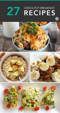 27 Easy Breakfasts You Can Make in a Crock-Pot #crockpot #recipes #breakfast