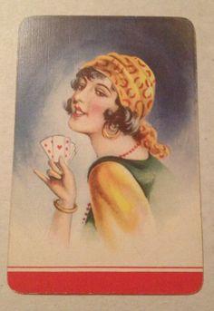 Playing Cards Swap 1 Single Vintage Lady | eBay