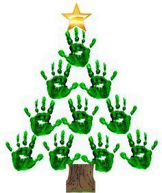 Arbre de Noël avec les mains!