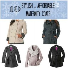 10 Stylish + Affordable Maternity Coats for Your Winter Wardrobe