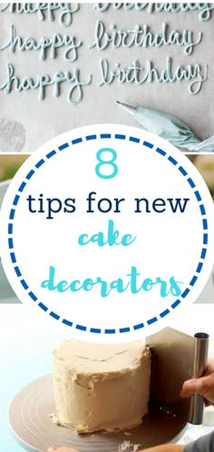Tips and tricks for new cake decorators! Full of cake decorating hacks!