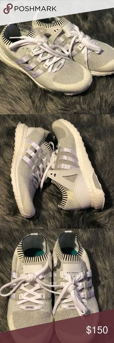Brand new Adidas EQT Brand new box included. Color is a vintage white with black stripes. Please feel free to ask questions! adidas Shoes Athletic Shoes