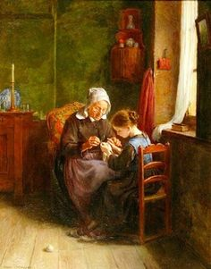 The Young Knitter, de Pierre Edouard Frère (1819 – 1886). http://iamachild.wordpress.com/2011/05/20/pierre-edouard-frere-1819-1886-french/