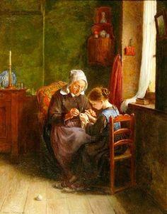 The Young Knitter, de Pierre Edouard Frère (1819 – 1886). http://iamachild.wordpress.com/2011/05/20/pierre-edouard-frere-1819-1886-french/