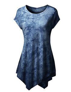 Mulheres Camiseta Happy-Hour Moda de Rua Verão,Color Block Azul / Rosa / Vermelho / Preto / Amarelo Poliéster Decote Redondo Manga Curta de 5078927 2017 por $9.99