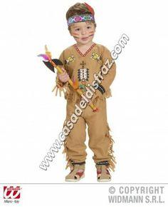 Disfraz de Indio para niños de 1 a 3 años. #Disfraces #Carnaval www.casadeldisfraz.com