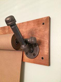 Reclaimed Industrial wall kraft paper dispenser by LocustAndPlum