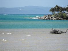 River mouth joins the ocean  Noosa Heads Qld Australia  Best place in the world!