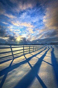 Staying Between the Lines - Wisconsin Horizons By Phil Koch.... #beautiful #beauty #blue #clouds #country #landscape #life #light #living #nature #peace #seasons #shadows #sky #snow #sun #sunrise #travel #weather #winter #wisconsin