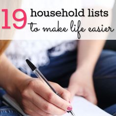 """Do you like lists? I adore lists. They help me feel a little more in control in an otherwise busy and unpredictable household. One of the first recommendations in a lot of time management programs is to do a brain dump of all the things you're trying to remember. When you """"empty"""" all those remin…"""