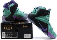 separation shoes f9547 9d105 Lebron 12 P.S Elite Green Purple Black1 Nike Lebron, Kinds Of Shoes,  Bugatti,