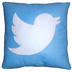 Twitter Pillow ($18) ❤ liked on Polyvore featuring home, home decor, throw pillows, pillows, decor, other and handmade home decor