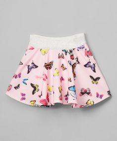 Pink Butterfly Skirt - Toddler & Girls #zulily #zulilyfinds