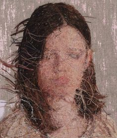 Densely Embroidered Portraits by Cayce Zavaglia  Design News Anonymous