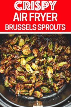 In this recipe for Air Fryer Brussels Sprouts, I show you how to make them perfect tender on the inside and crispy on the outside. I also give instructions on cooking them with bacon! Air Fryer Brussels Sprouts - Perfectly Tender and Crispy Air Fryer Recipes Vegetarian, Air Fryer Recipes Low Carb, Air Fryer Recipes Breakfast, Air Fryer Dinner Recipes, Cooking Recipes, Cooking Food, Cooking Tips, Food Tips, Bacon Recipes