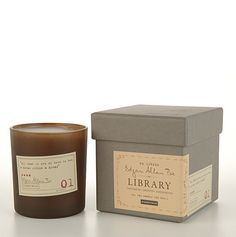 soy candles by Paddywax; Each scent is paired with a famous literary quote from the likes of Dickens, Edgar Allen Poe (our fav!), Austen, Whitman, and even Thoreau. The scents are as timeless as the work of the names they bear.