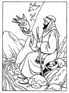 coloring sheet for Bible Story of David's father sent him to carry food to his brothers nd the captain - Google Search
