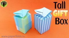 """This Video Tutorial teaches you to make an Origami """"Concealed Tall Gift Box"""" which is useful to pack small gift items for various occasions – Birthdays, Wedd..."""