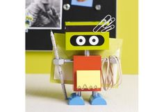 """Chip the Robot Desk Organizer"" will help you keep things in order. Bleep!"