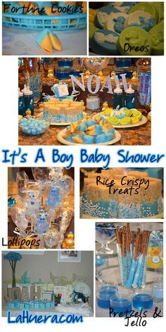 » It's A Boy Baby Shower Ideas Extend your theme into the food! http://www.lahuera.com/its-a-boy-baby-shower-ideas/
