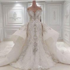 2016 Portrait Mermaid Wedding Dresses With Overskirts Lace Ruched Sparkle Rhinstone Bridal Gowns Dubai Vestidos De Novia Luxury Mermaid Wedding Dresses Overshirts Major Beaded Wedding Dress Online with $295.0/Piece on Magicdress2011's Store | DHgate.com