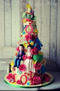 All you need is love ! #wedding cake