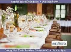 Receive free admission for up to five guests to Bride World Expo October 23!