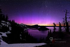Aurora Borealis and the Milky Way over Crater Lake National Park — June 17, 2012